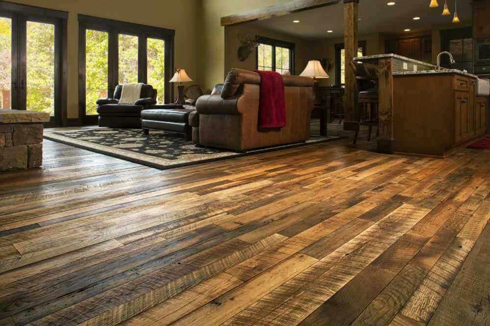Reclaimed Engineered Hardwood Floor in Black Mountain NC