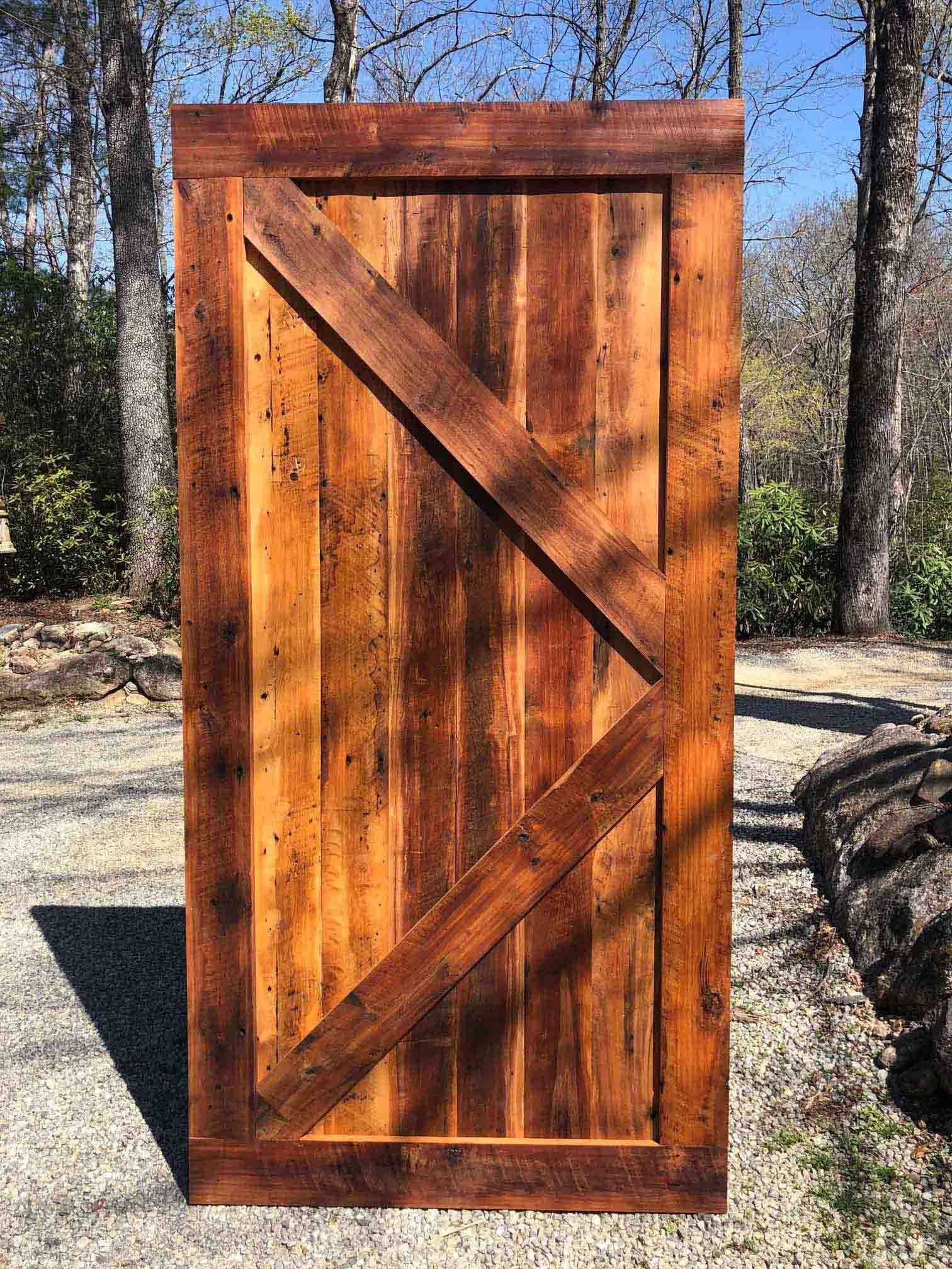 Rustic Barn Door Mixed Hardwood