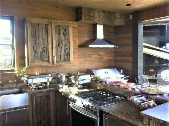 Rustic Kitchen in a Small Space in lake toxaway, nc