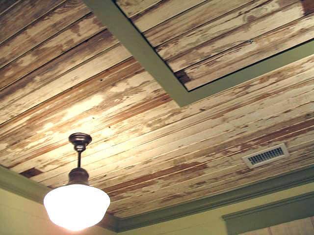 Shabby Chic Old Wood Ceiling near Hilton Head SC