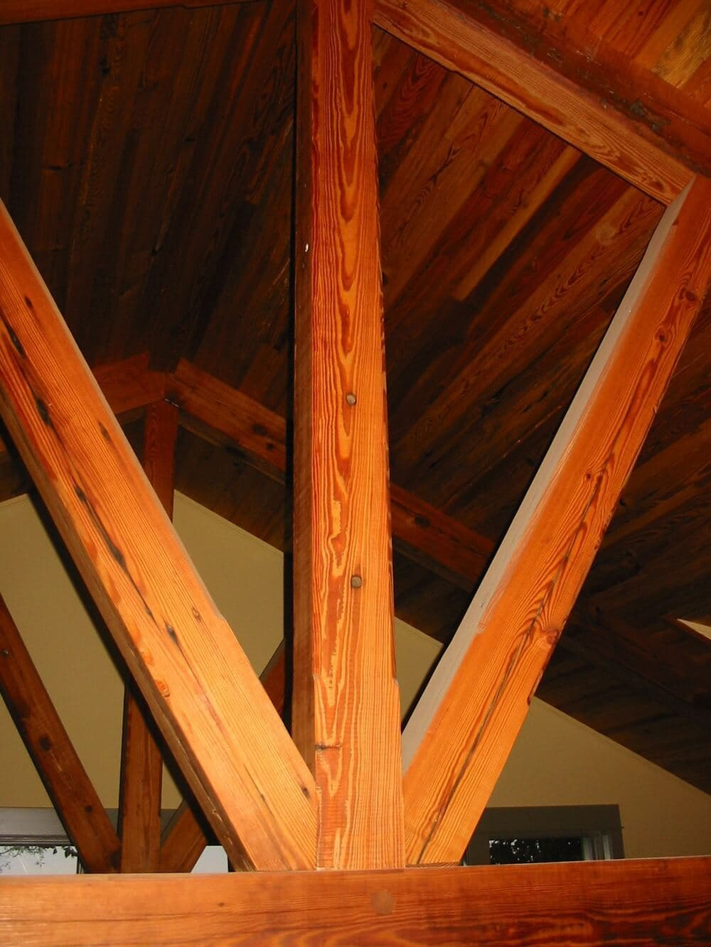 Antique heart pine timbers