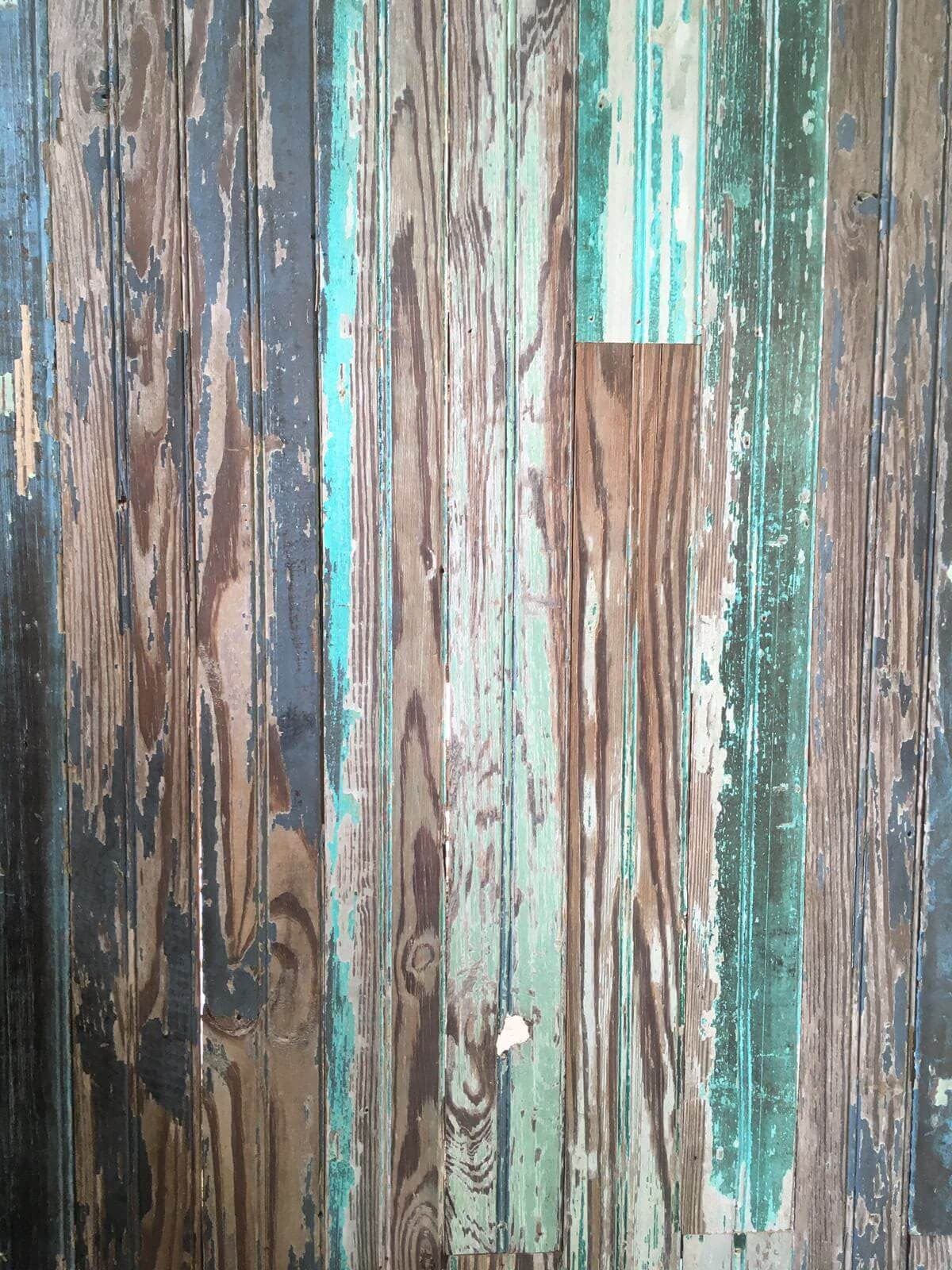 distressed narrow widths bead board planks with chipping colors