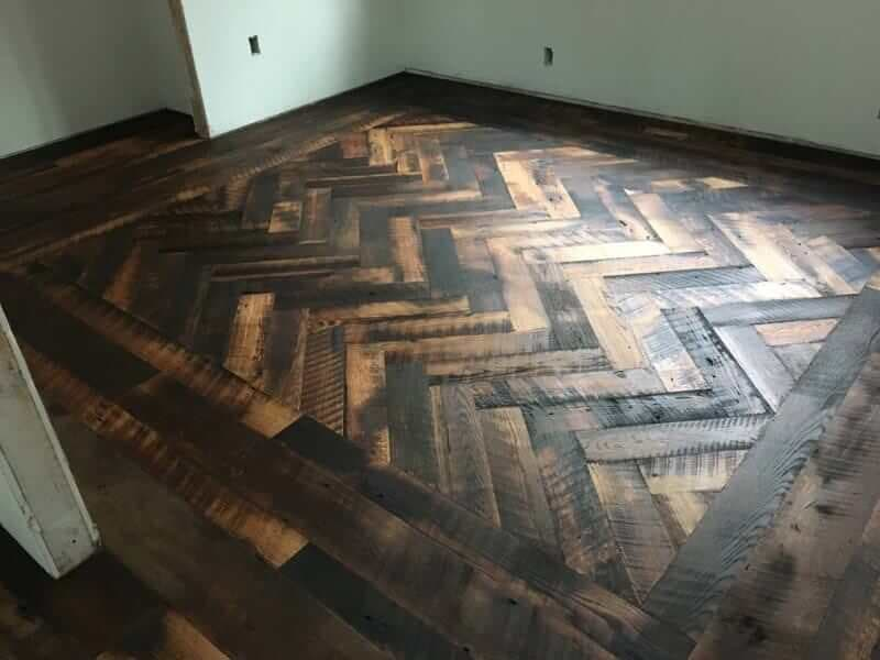 Character oak inlaid floor courtesy Aspen Builders