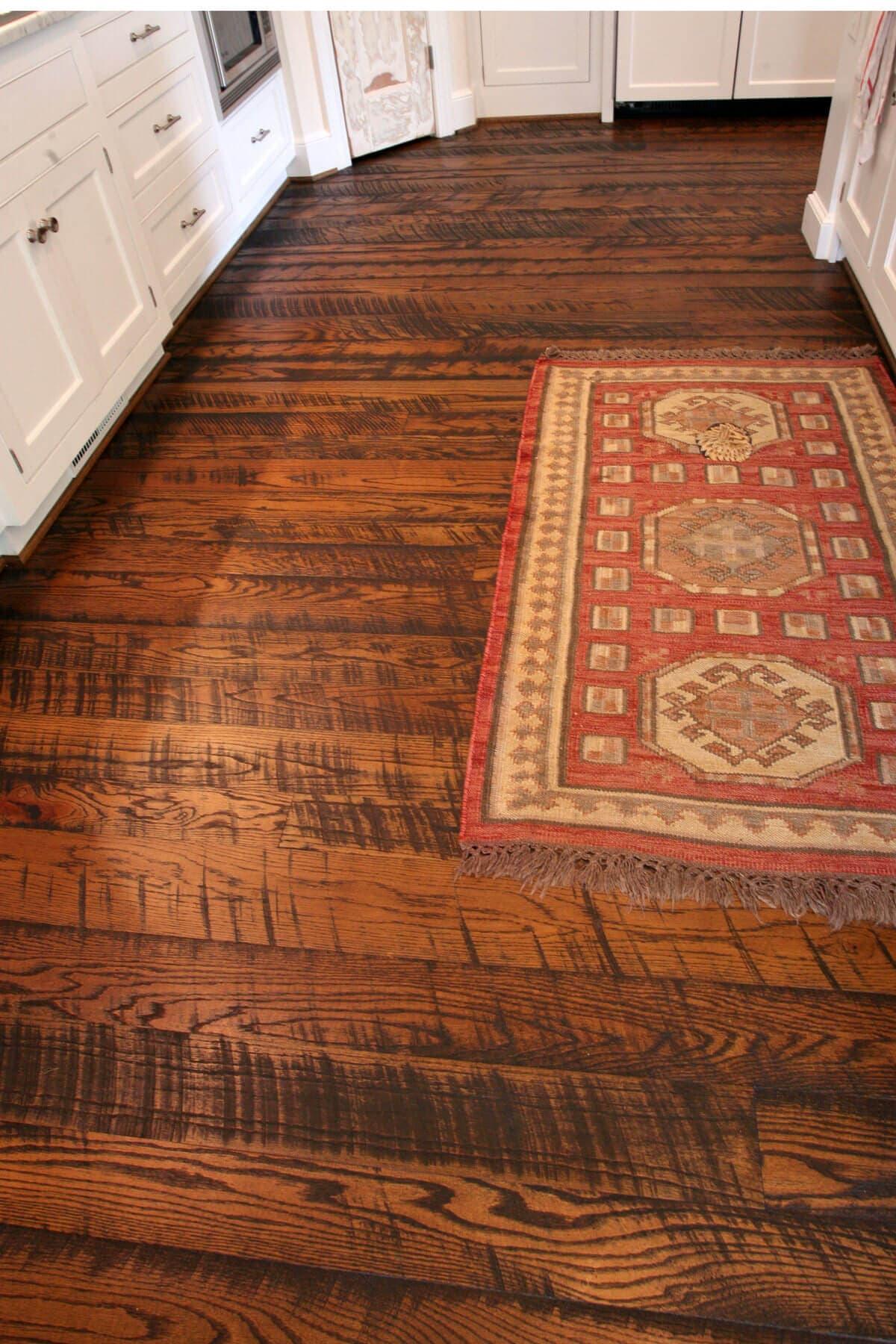 Circle sawn oak floor by Whole Log Lumber