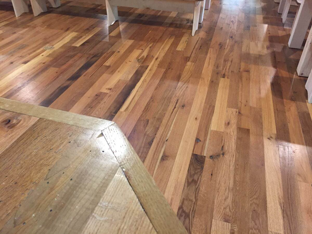 Classic reclaimed hardwood flooring
