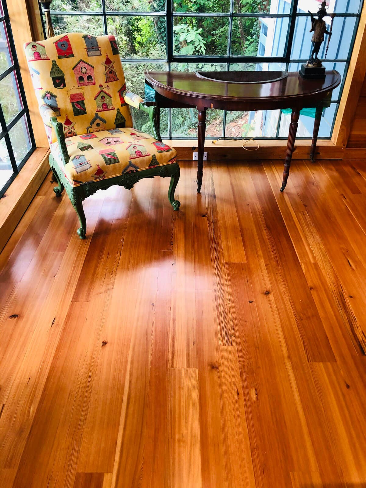 Classic old wood flooring restored to original beauty.