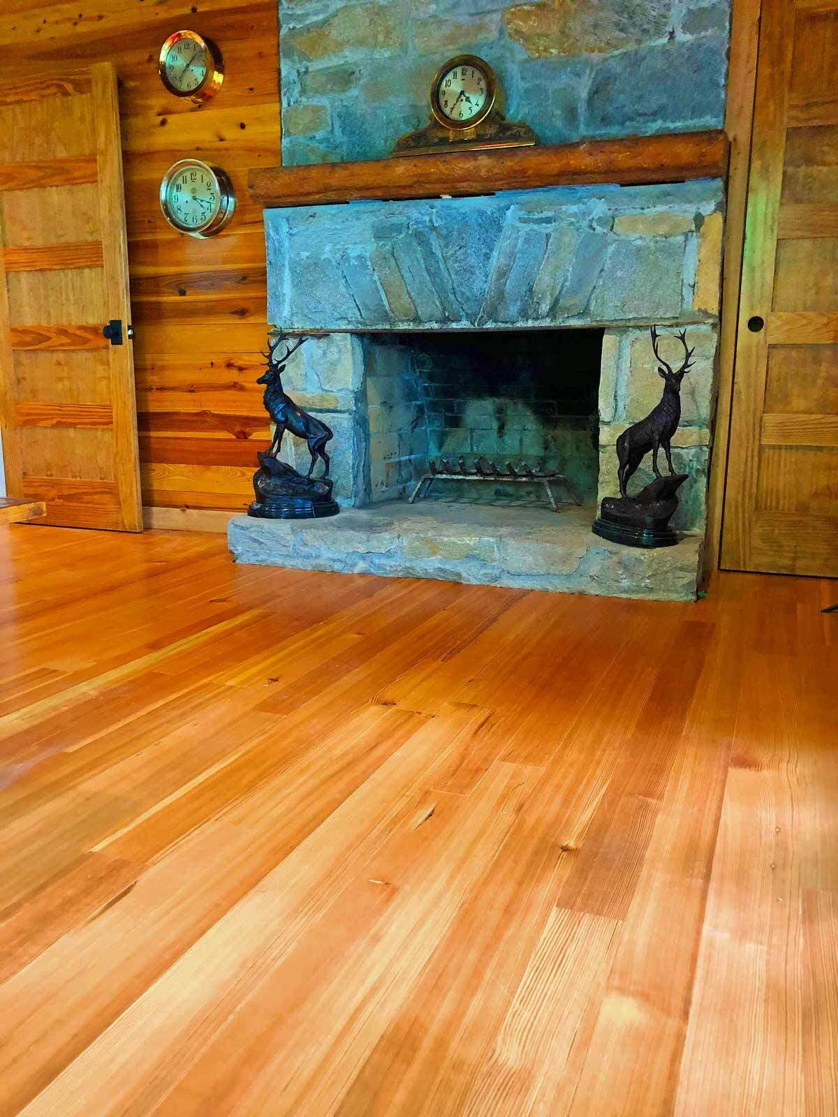 Classic old wood floors reclaimed and restored to original beauty.