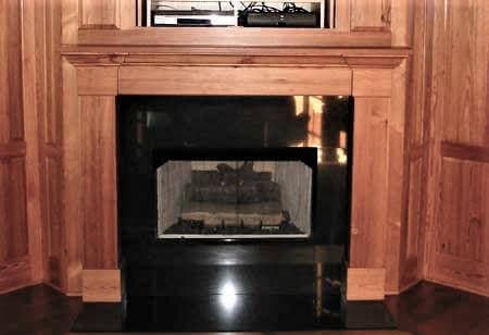 custom wood fireplace mantel in champion hills community of hendersonville, nc