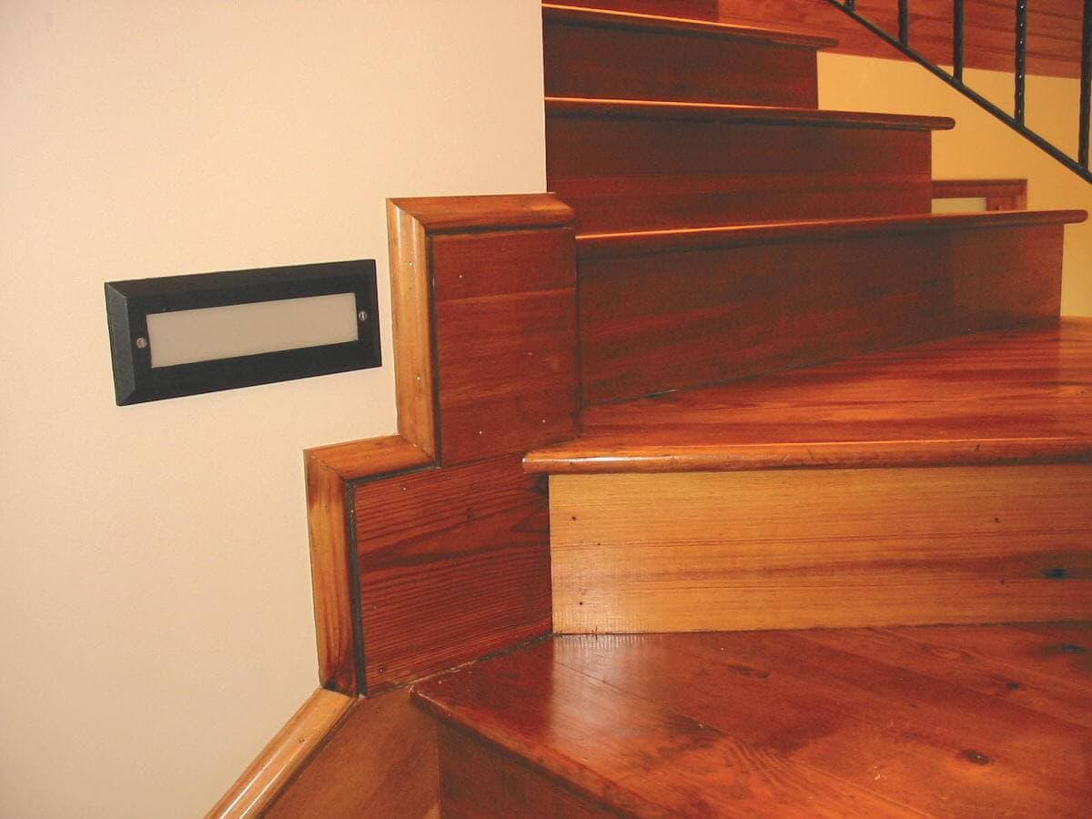 prime grade heart pine Stairs and risers at a landing
