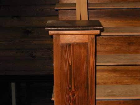 heart-pine-stair-post