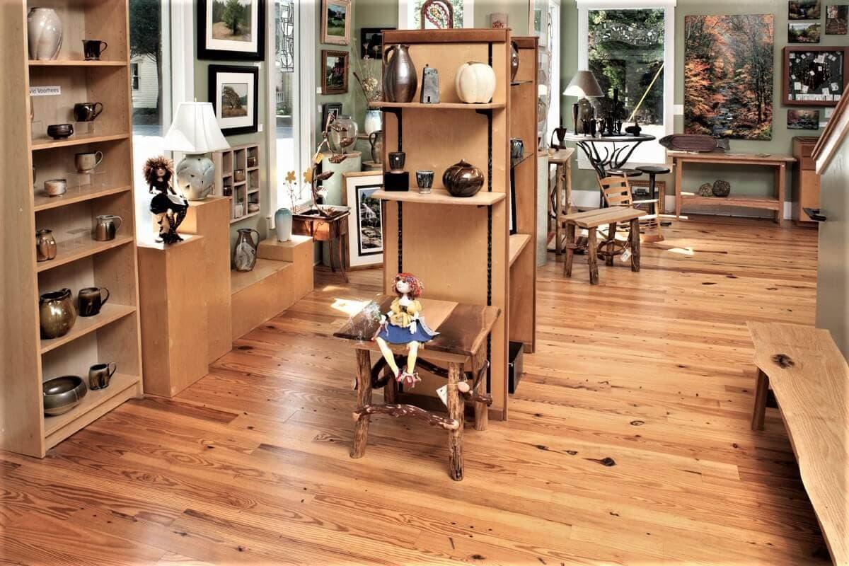 Heart pine cabin grade floor in flat rock nc gallery