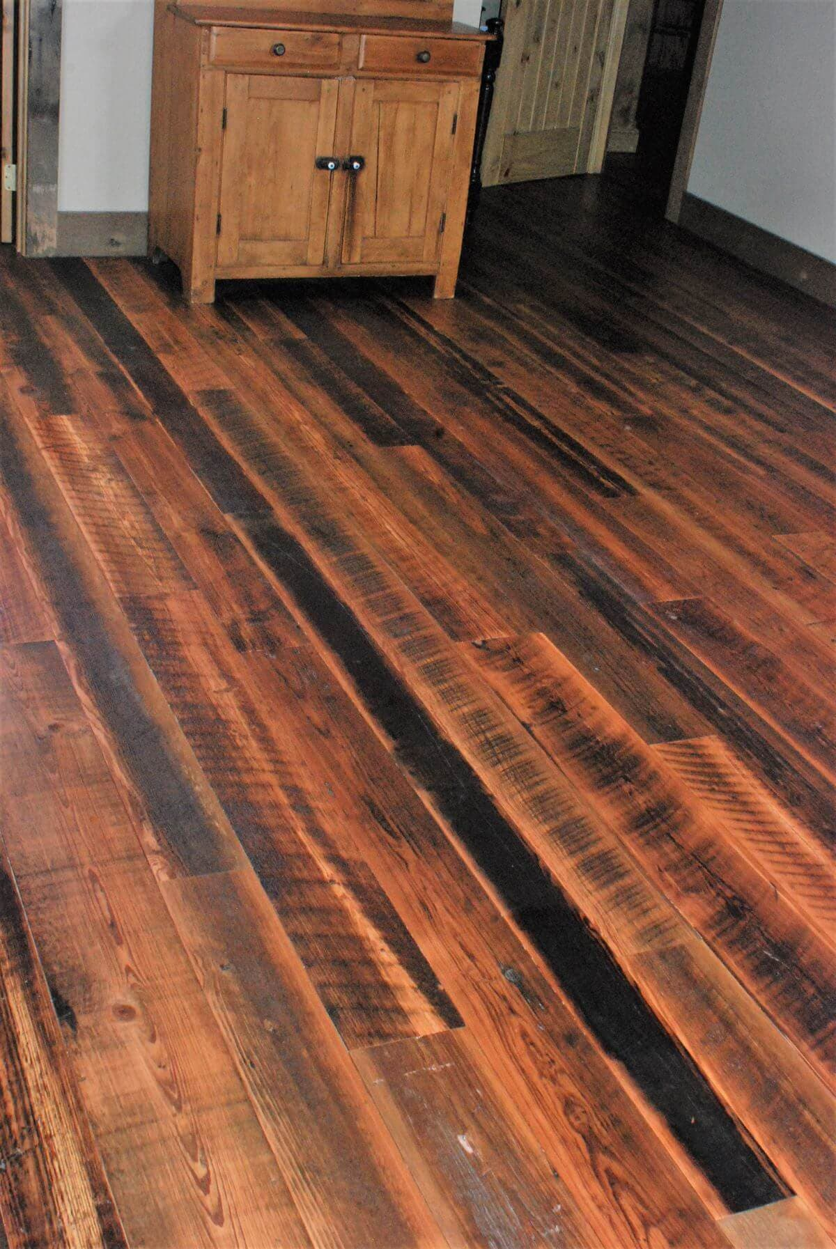reclaimed heart pine flooring narrow widths
