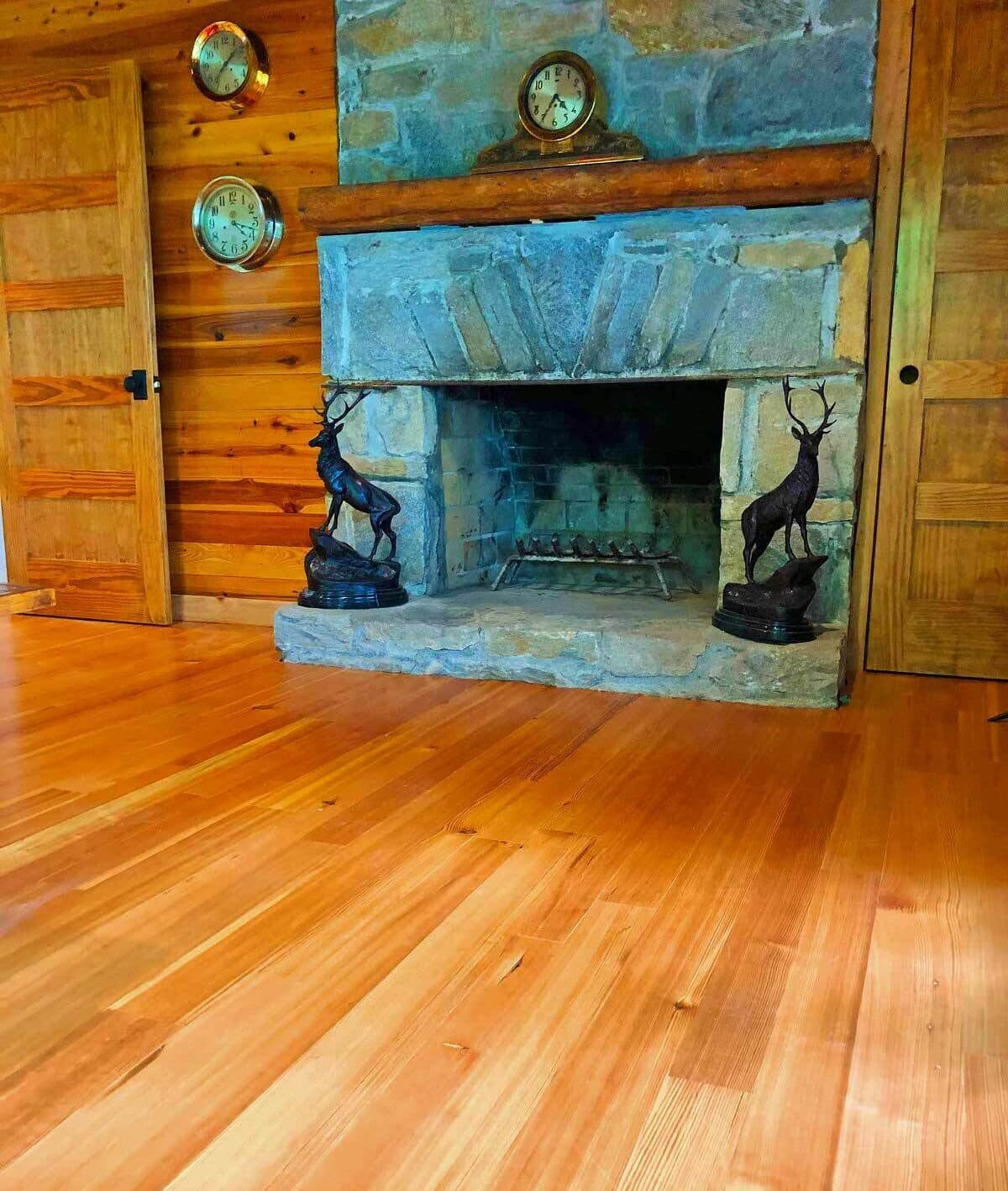 antique heart pine flooring.