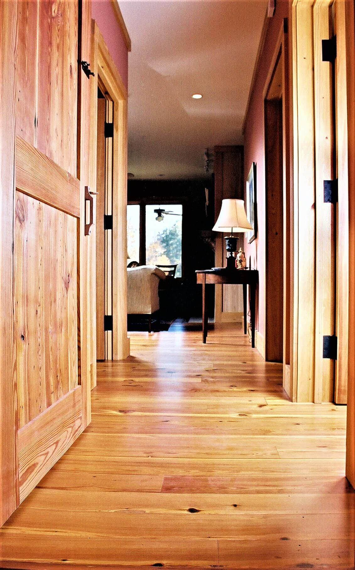 Heart pine floors and doorway travelers rest sc