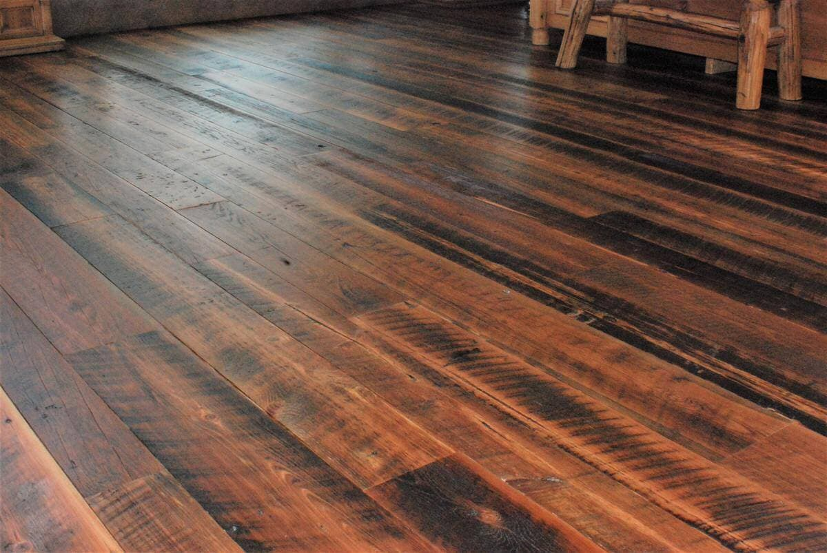 right angled view heart pine character flooring hendersnville nc