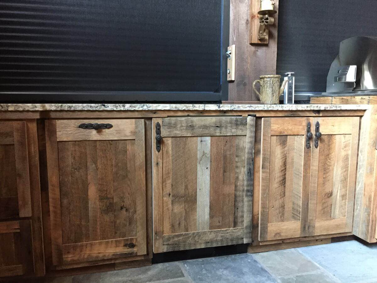 a set of three rustic character kitchen cabinet doors in nc
