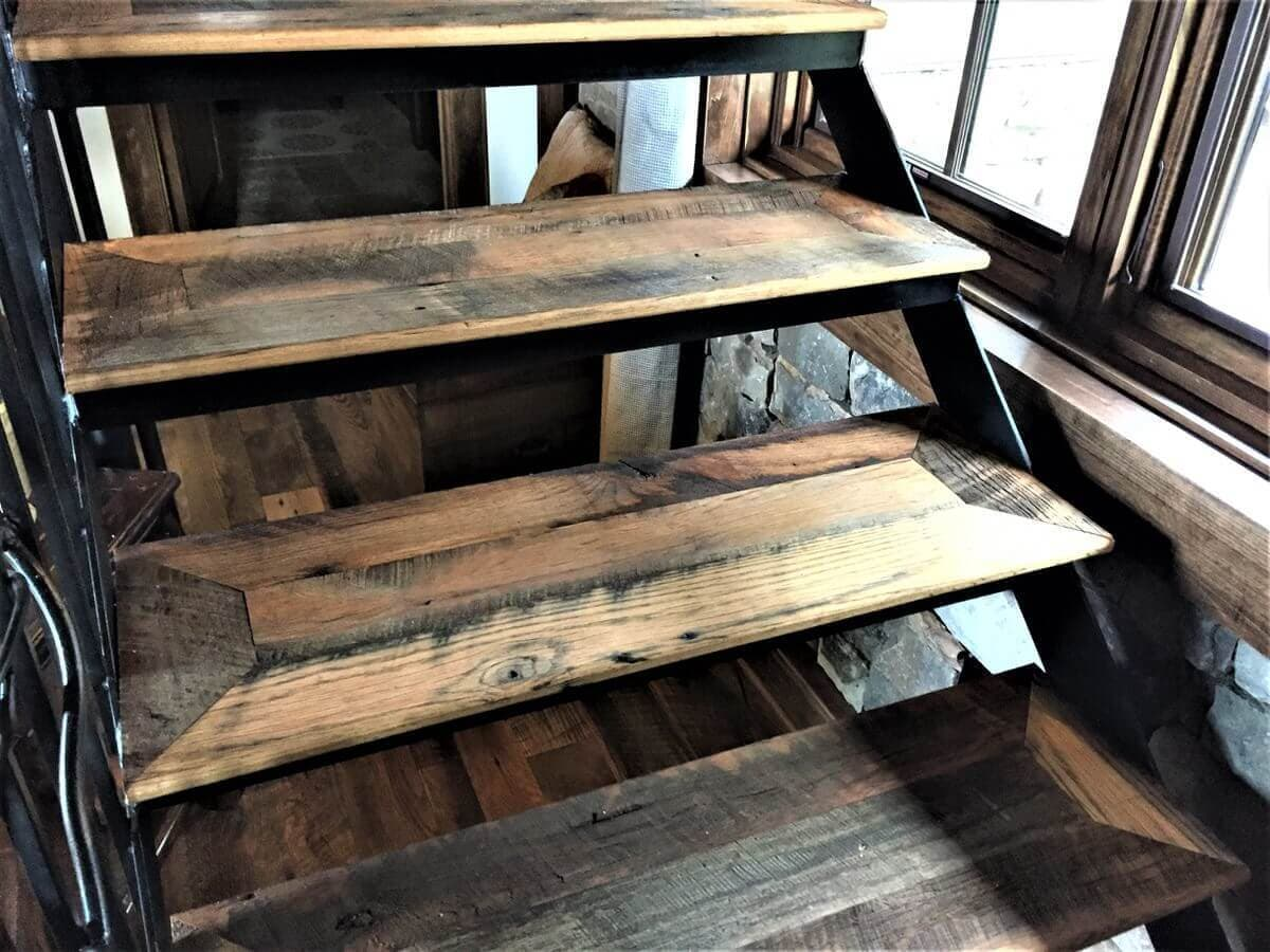 mountain valley resort character oak stairs without risers