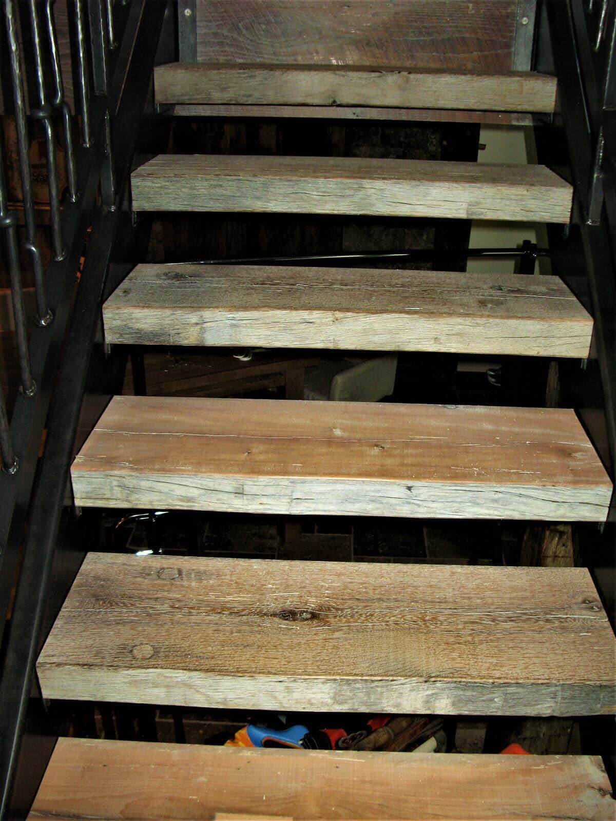two inch original surface floating wood stairs in hickory, nc