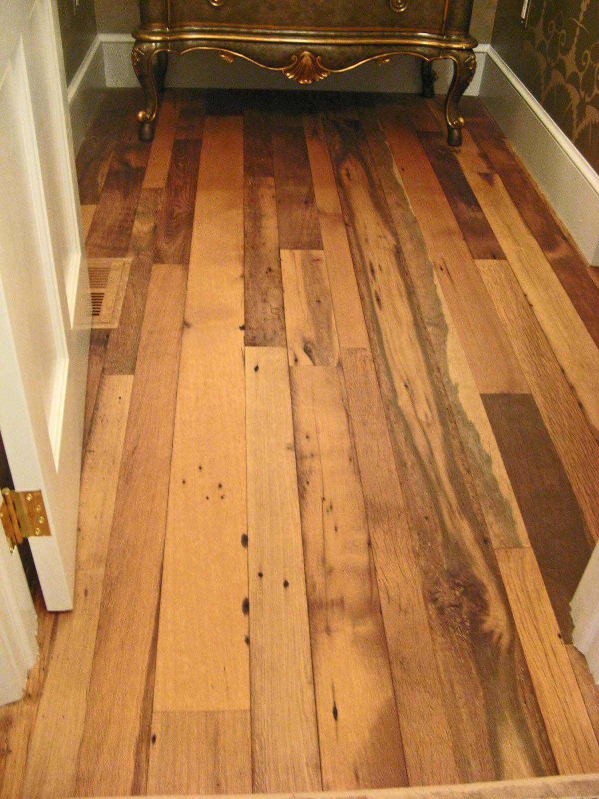 Reclaimed antique mixed hardwood flooring