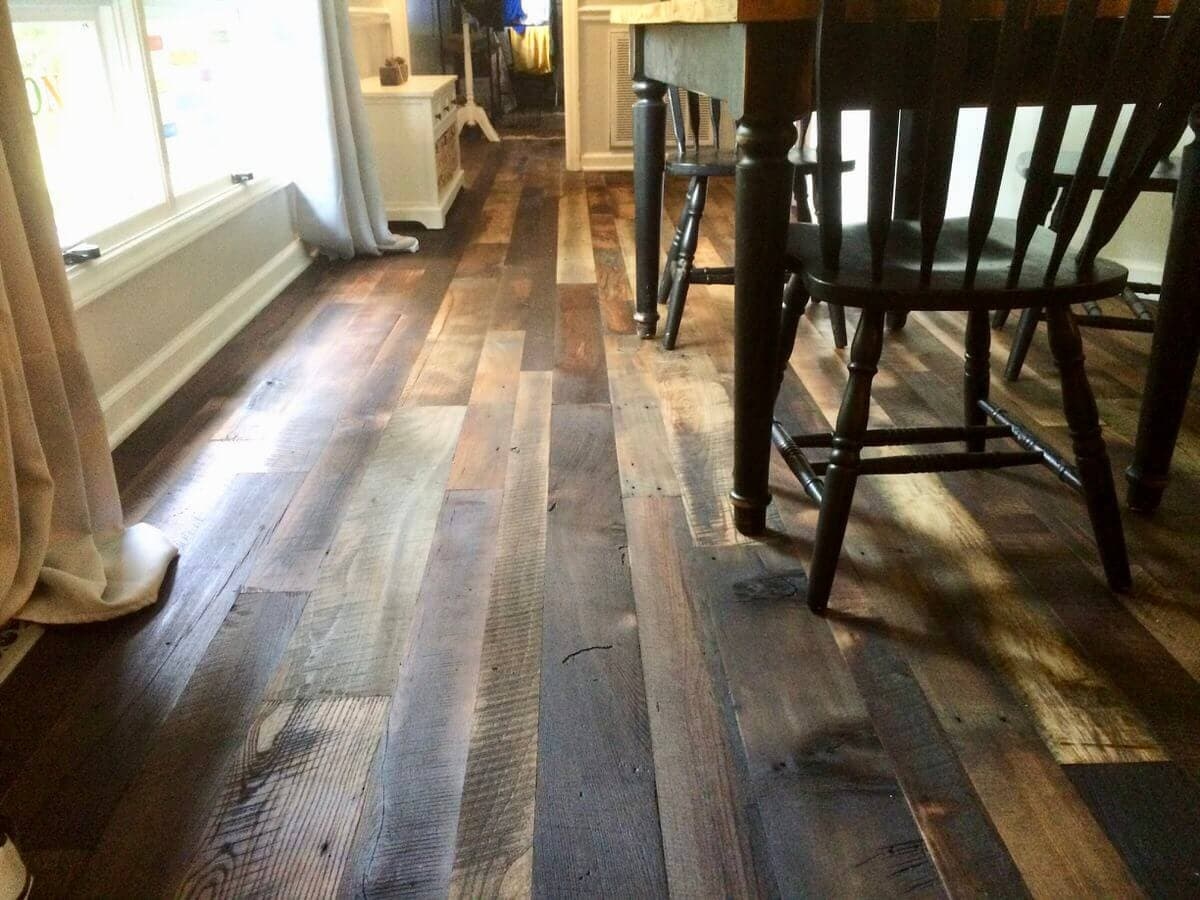 Reclaimed hardwood character flooring 50 50 brazil brown and natural