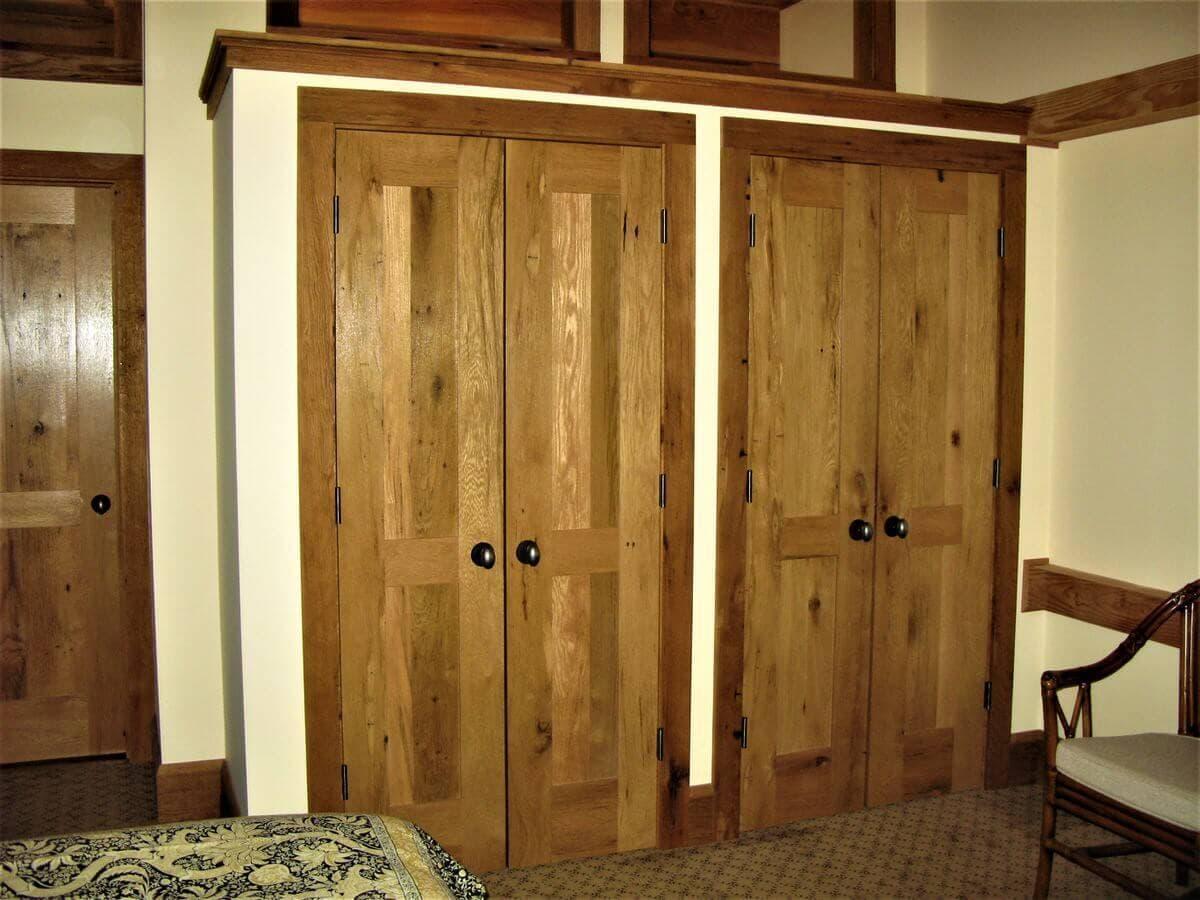 Reclaimed hardwood french doors in lake james nc
