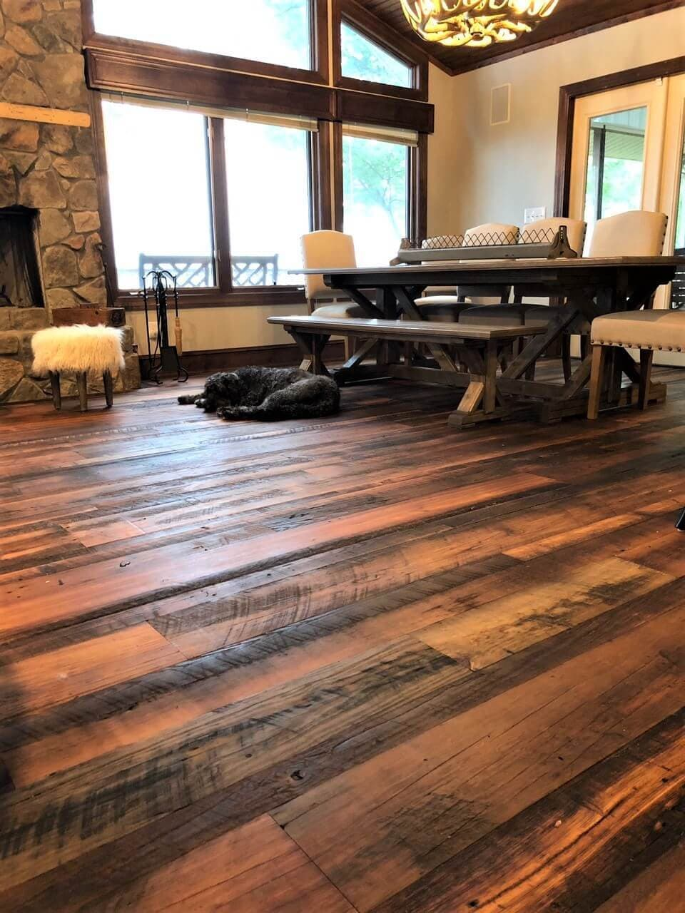 heart pine flooring finished with healthy woca natural oil finish