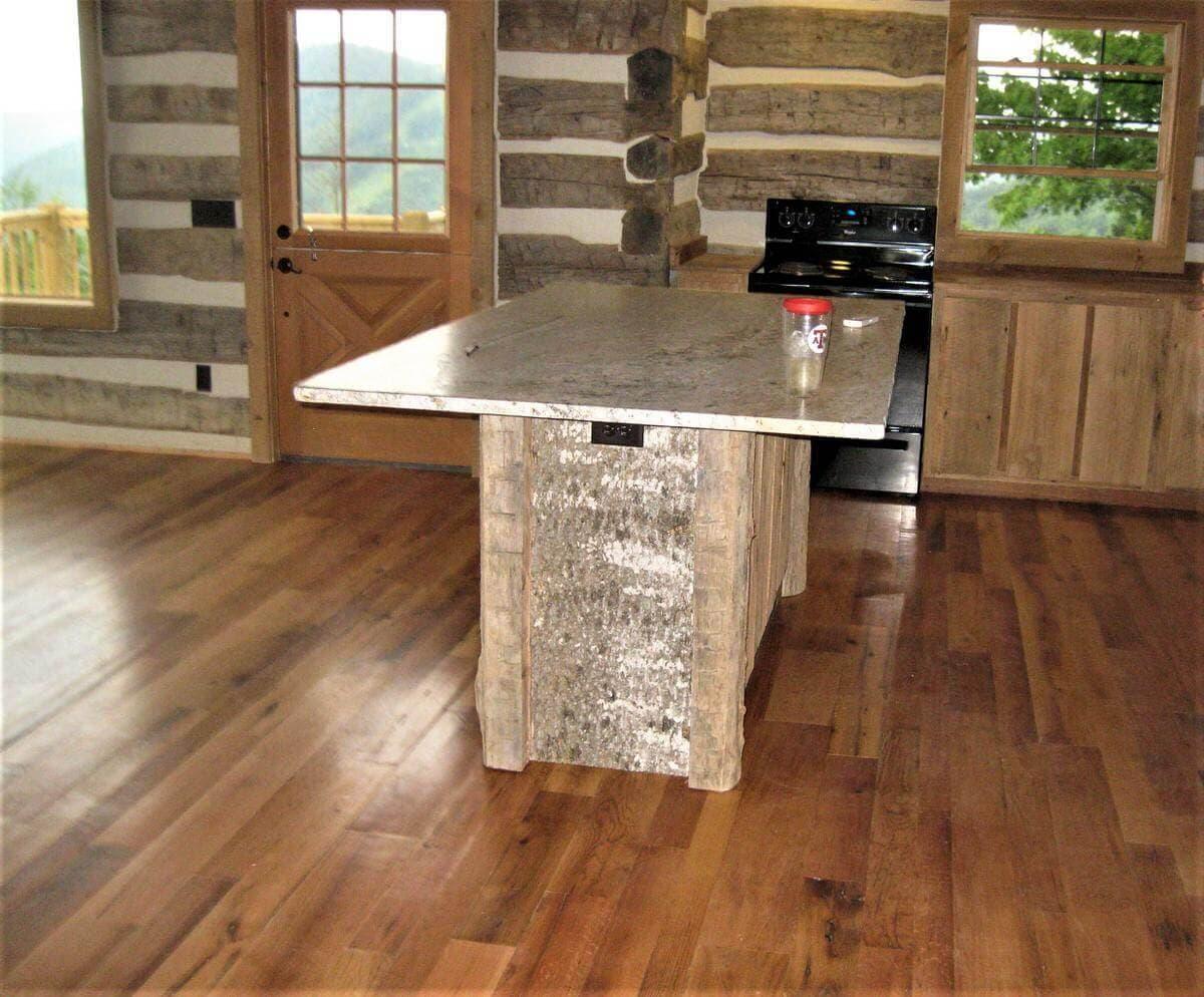 Reclaimed oak northrup cabin hendersonville nc