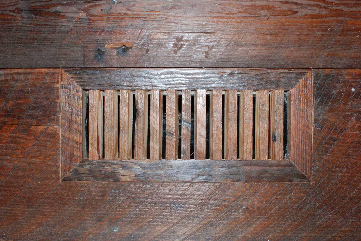 reclaimed wood floor vent