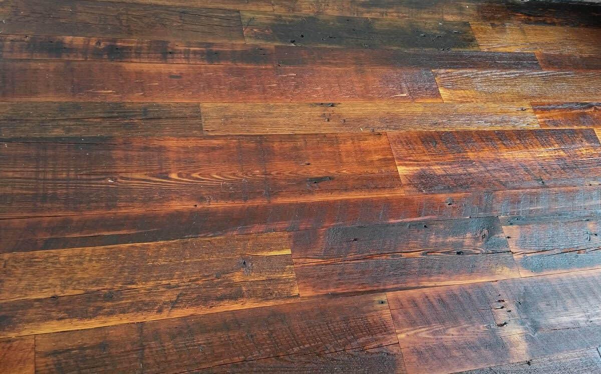 rustic heart pine character floor horizontal