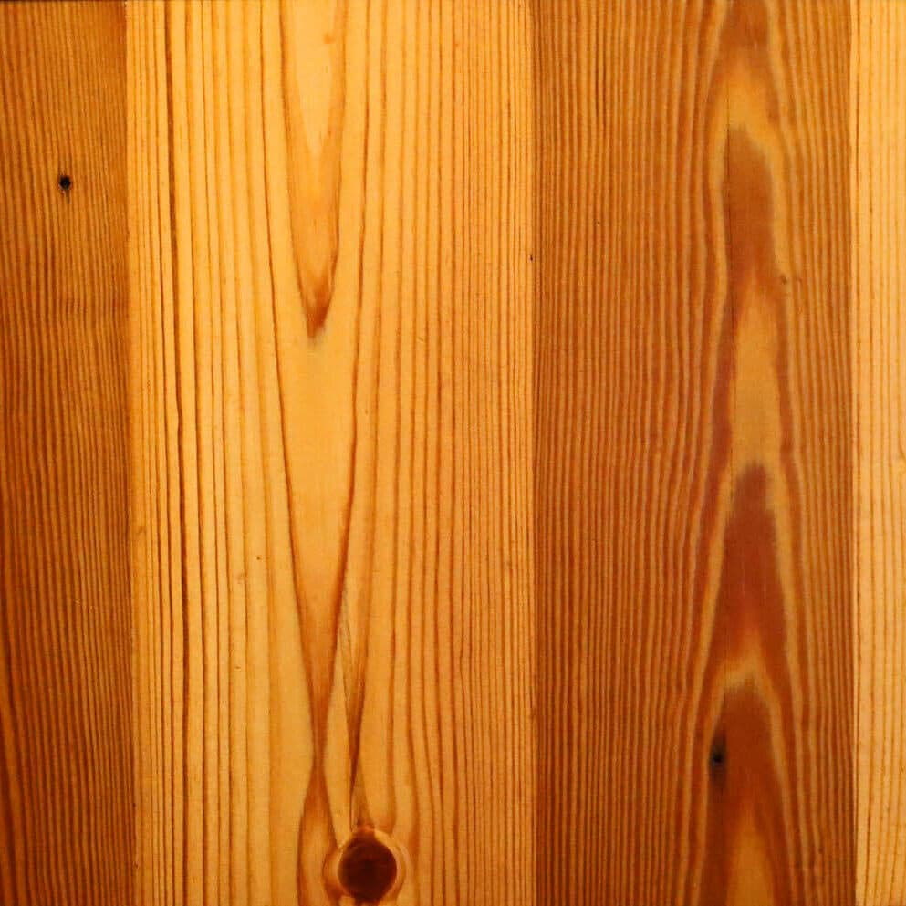 Plain sawn Heart Pine flooring swatch.
