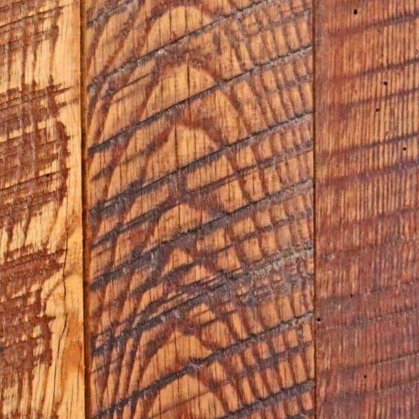 Reclaimed hardwood flooring swatch.
