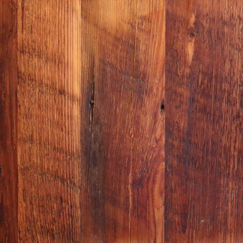Rustic heart pine flooring swatch.