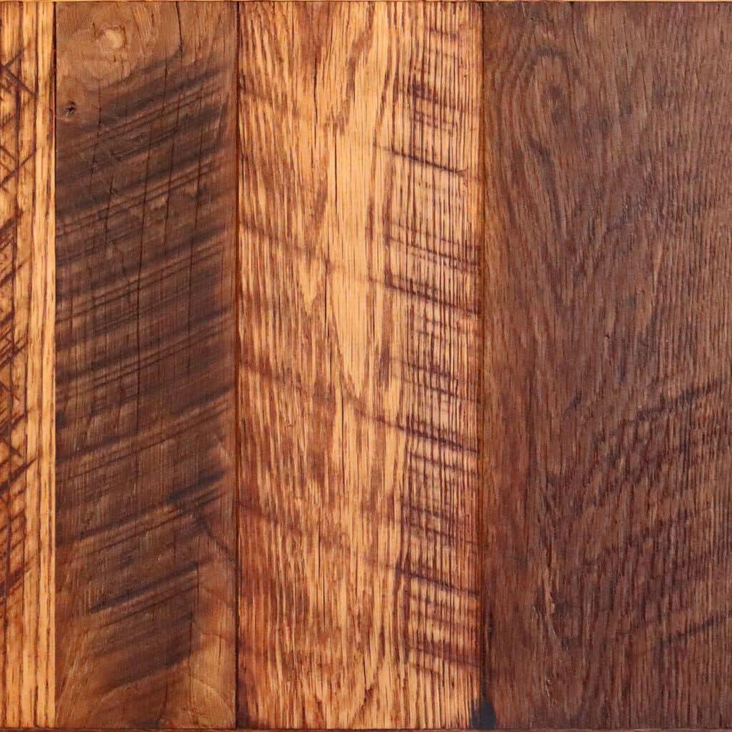 Rustic reclaimed oak flooring swatch.