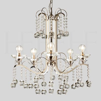 Ch70 Sophie Chandelier 5 Arm S