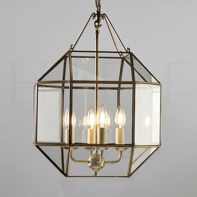 La101 Henry Lantern Antique Brass S