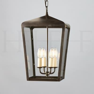 La410 Michele Hanging Lantern Bronze S
