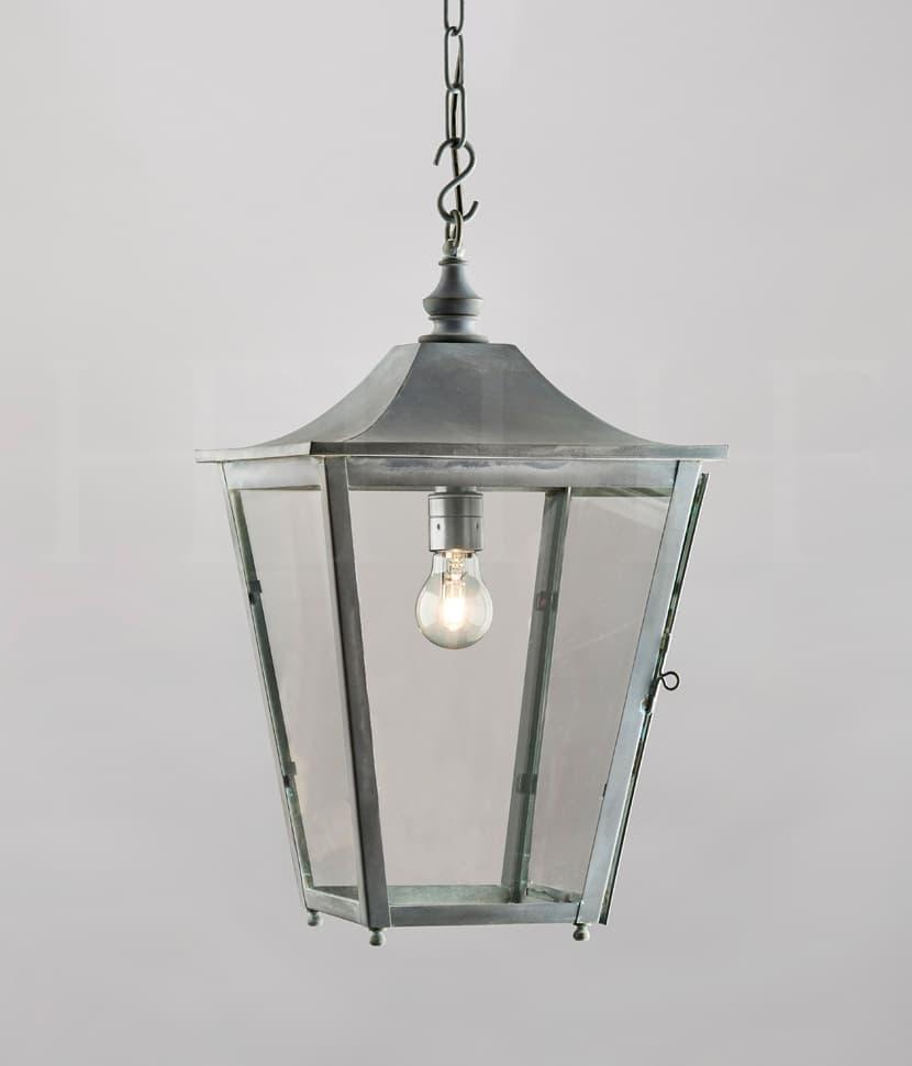 La412 L Athena Hanging Lantern Large Zinc S