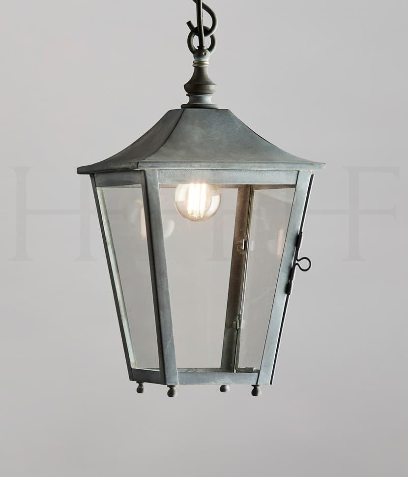 LA412 S Athena Hanging Lantern Small Zinc S