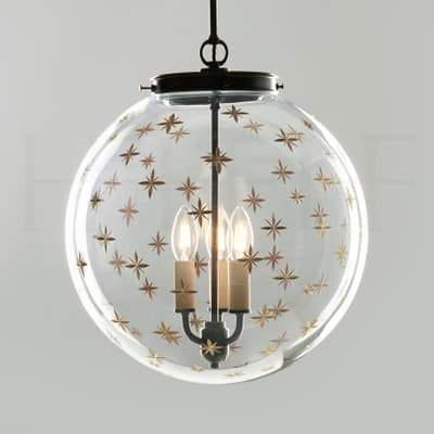 Pl105 L Star Etched Globe Large S