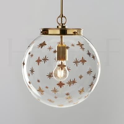 Pl105 M Star Etched Globe Medium S