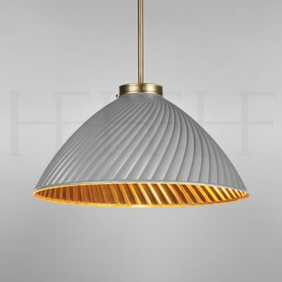 PL135 L Tiber Large Grey Gold Interior on Brass Rod S