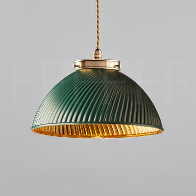 Pl135 S Tiber Pendant Small Green With Gold Interior Ab S