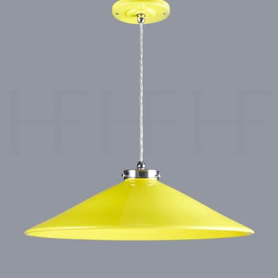 Pl300 L Lucia Ceramic Pendant Giallo And Chrome S