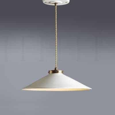 Pl300 S NA Lucia Ceramic Pendant Small Naturale Antique Brass S