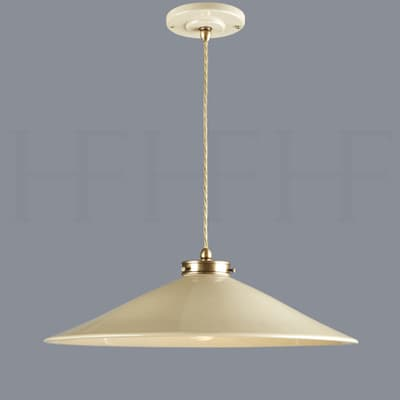 Pl300 Xl Lucia Ceramic Pendant Taupe And Antique Brass S