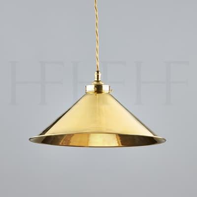 Pl340 Brass Coolie Shade S