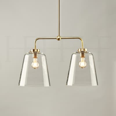 Pl432 Double Bell Shade On A Rod Large S