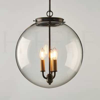 Pl85 L Hector Glass Globe Large S