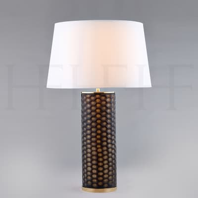 Tl151 Fire Agate Honeycomb Glass Table Lamp S