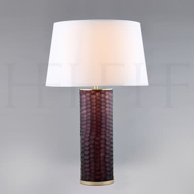 Tl153 Amerthyst Honeycomb Glass Table Lamp S
